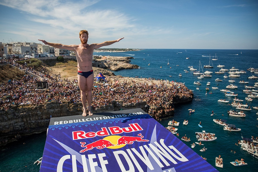 A Polignano la finale del Red Bull Cliff Diving World Series