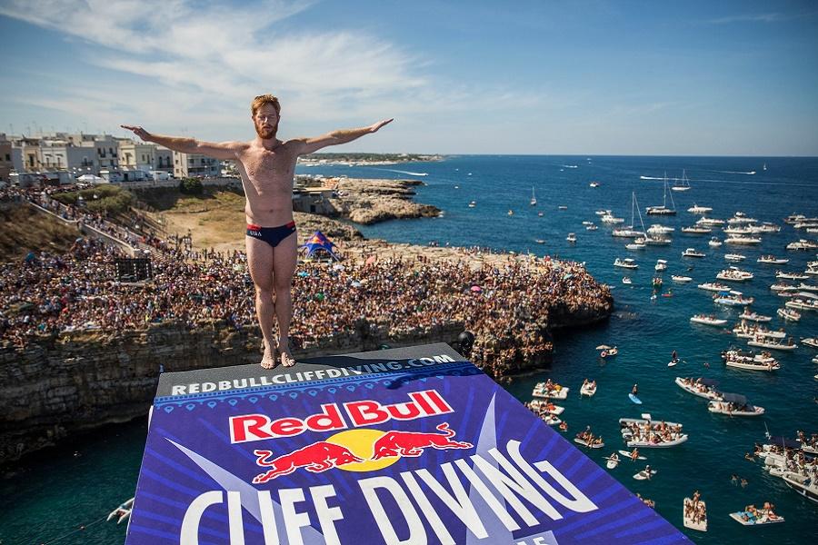 A Polignano la finale del Red Bull Cliff Diving World Series